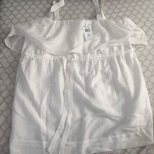 White Maternity Blouse